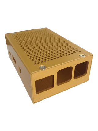 Case for RasPI 2/3 in gold anodized surface